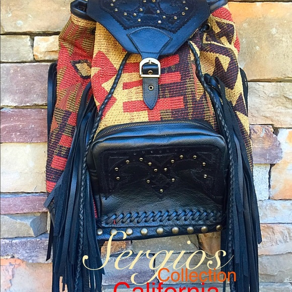 SergiosCollection Handbags - Navajo Indian blanket one of a kind Backpack